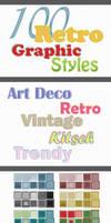 100 Retro Graphic Styles for Adobe Illustrator