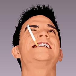 Robbie Williams by ChewedKandi