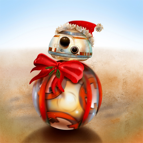 Christmas BB-8 by fresco-child on DeviantArt
