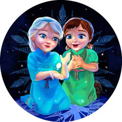 Frozen's Anna and Elsa by fresco-child