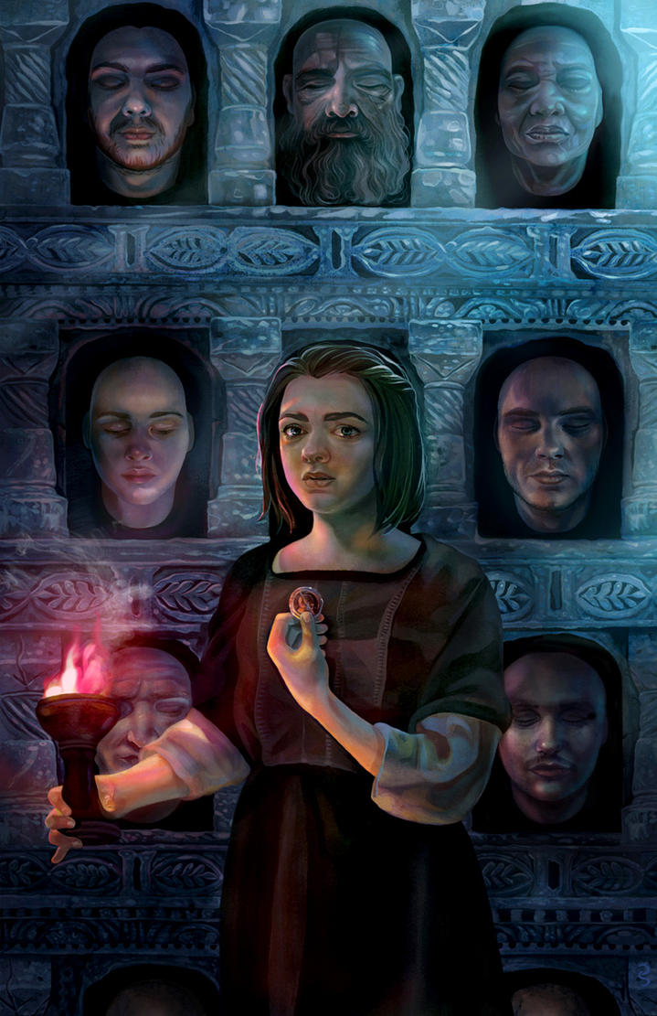 Hall of Faces by fresco-child