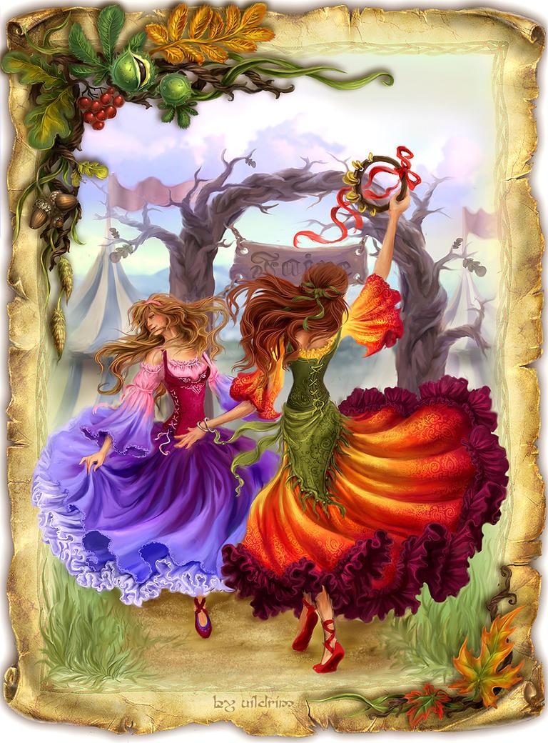 """Схема вышивки  """"Танцовщицы """": таблица цветов."""