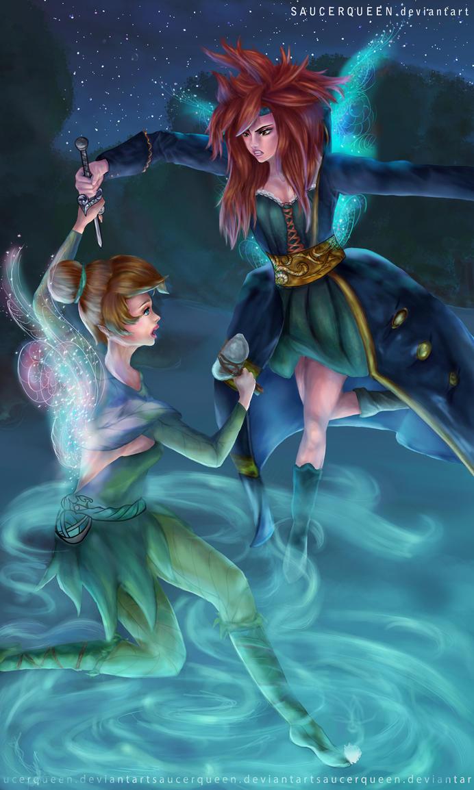 Tinkerbell and Zurena by SaucerQueen