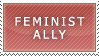 Feminist Ally Stamp by condors