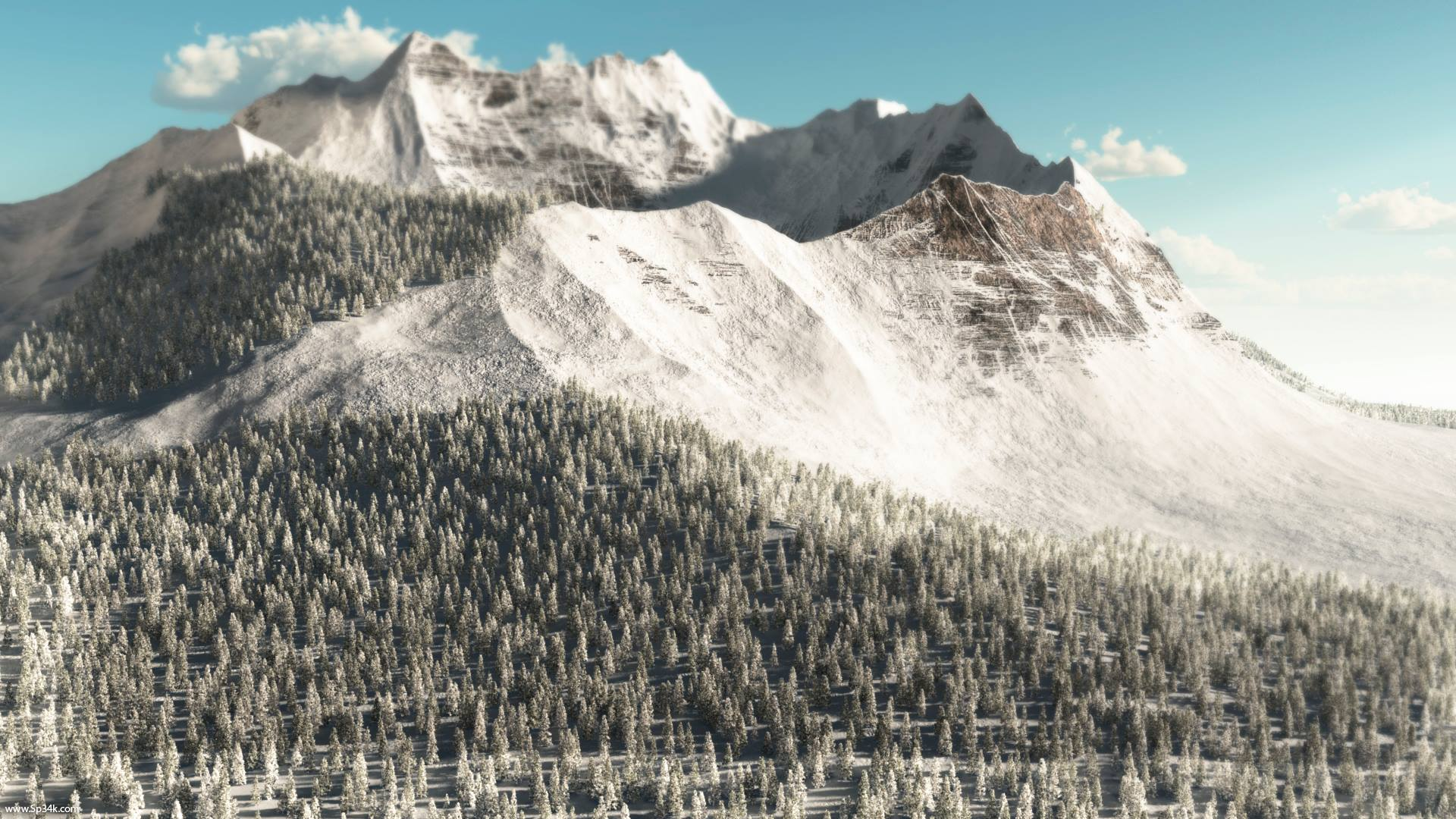 Snowy Mountain by 5p34k