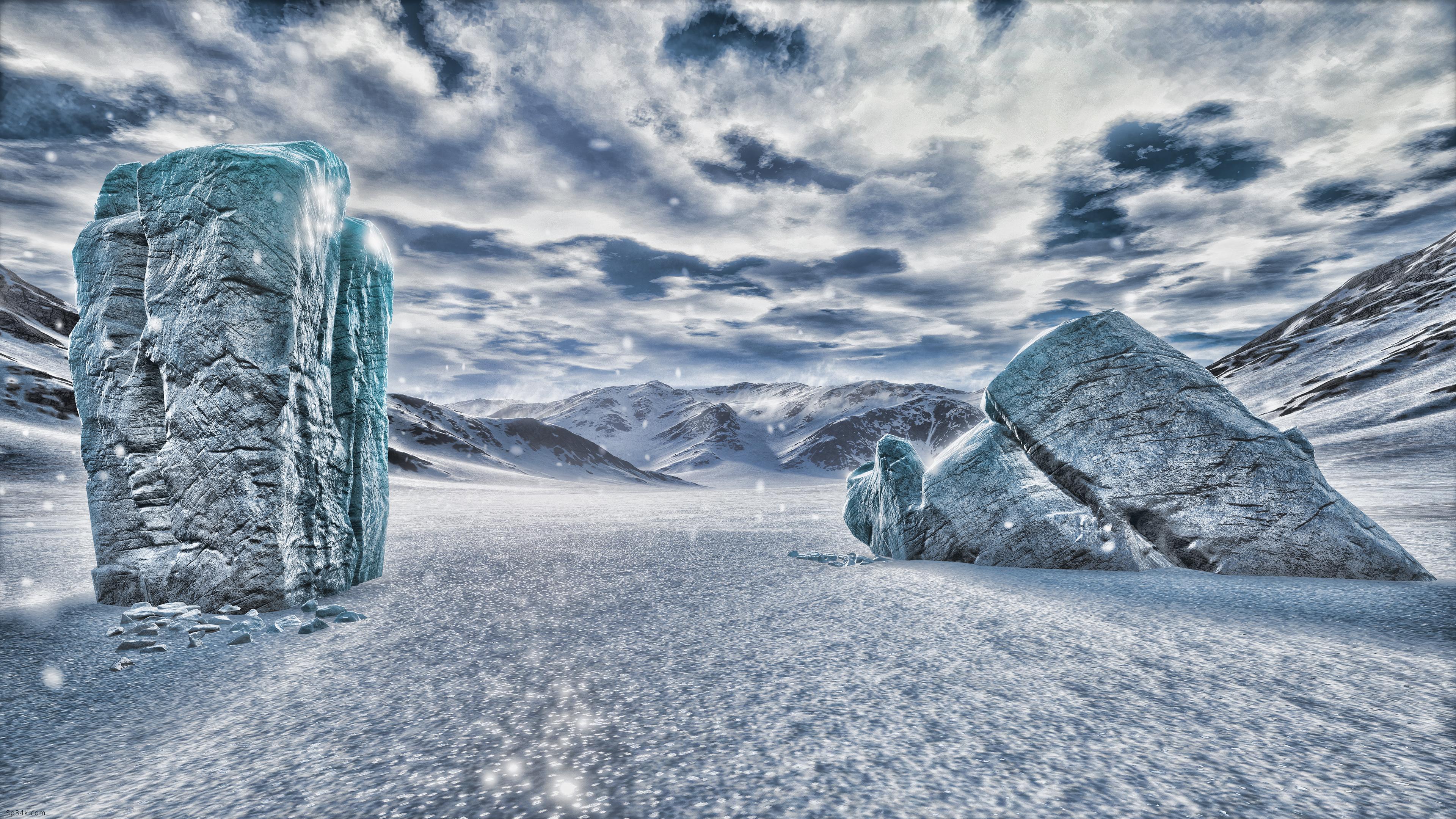 HDR Ice pillars