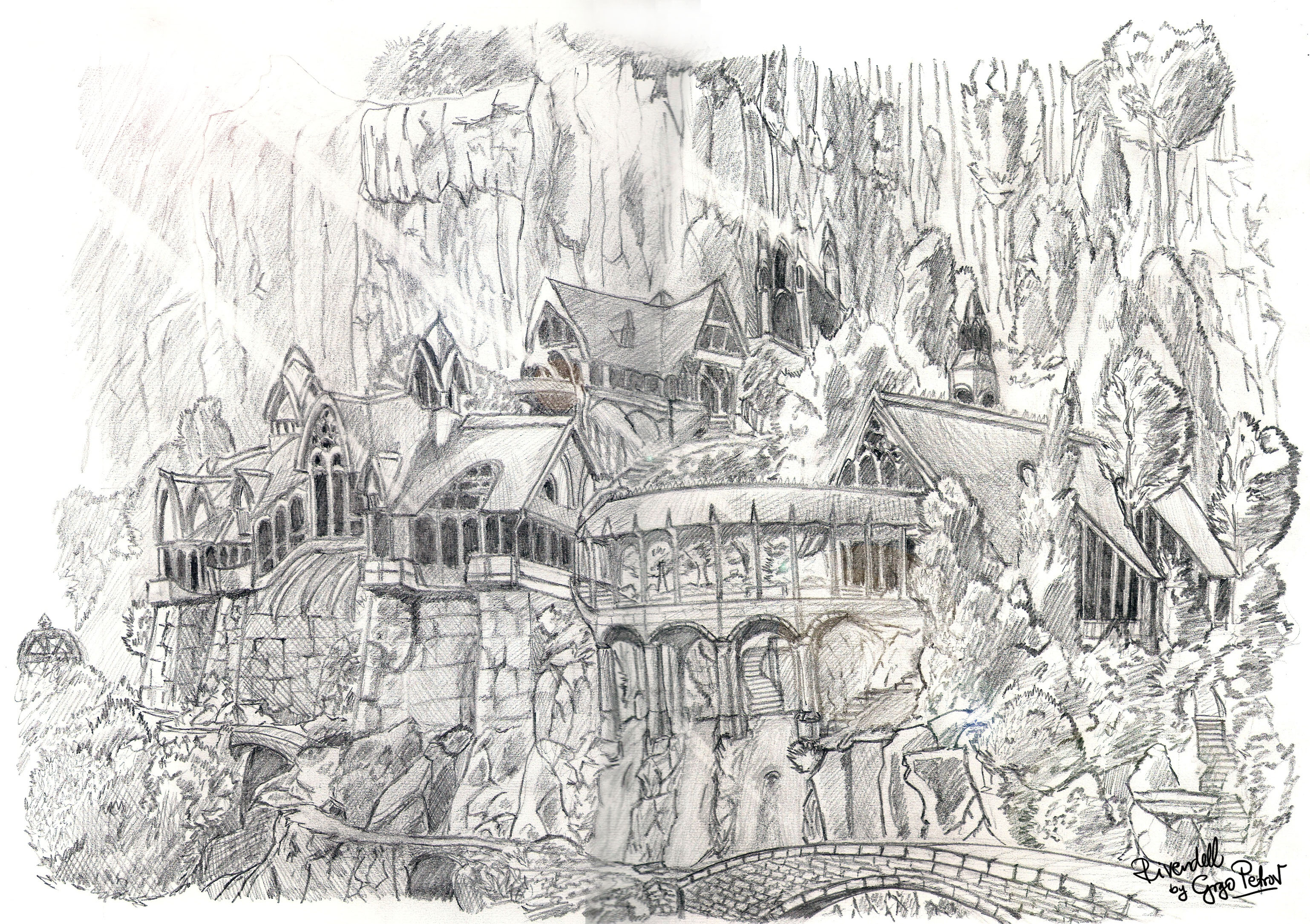 rivendell drawing by grgo1408 on deviantart