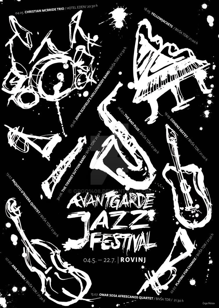 Avantgarde Jazz Festival Poster Design By Grgo