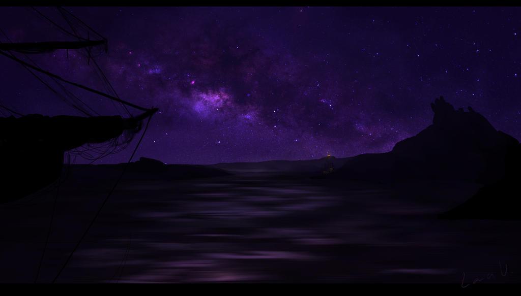 Par une nuit calme... [Enrico] Semi_dramatic_night_scene_by_lanaujdenica-d8p0m5e