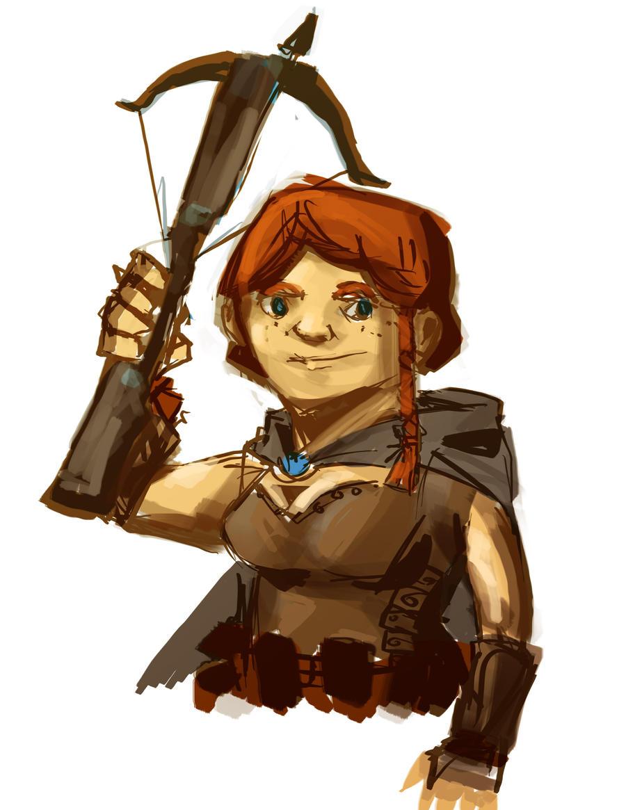 Female Dwarf by Haclif