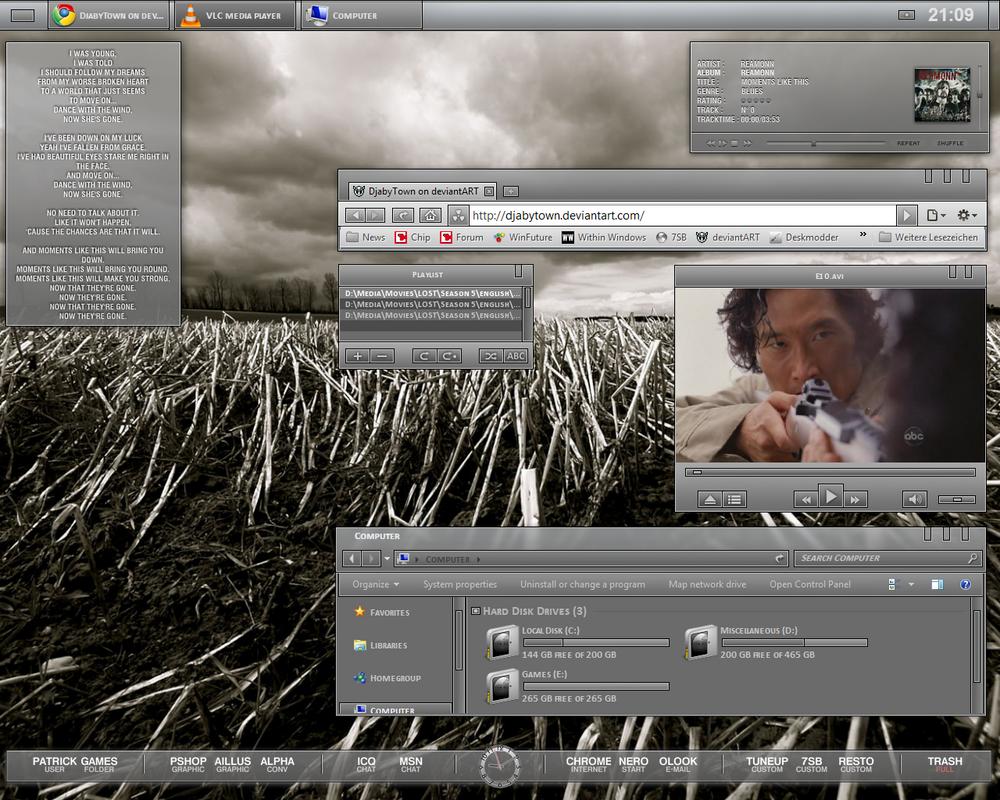 Current Desktop by DjabyTown