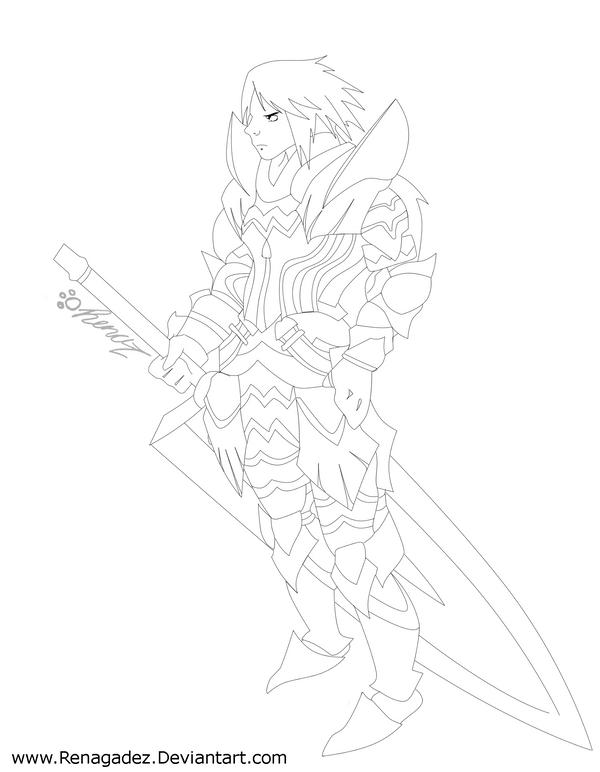 Ren in Kushala armor by renagadez