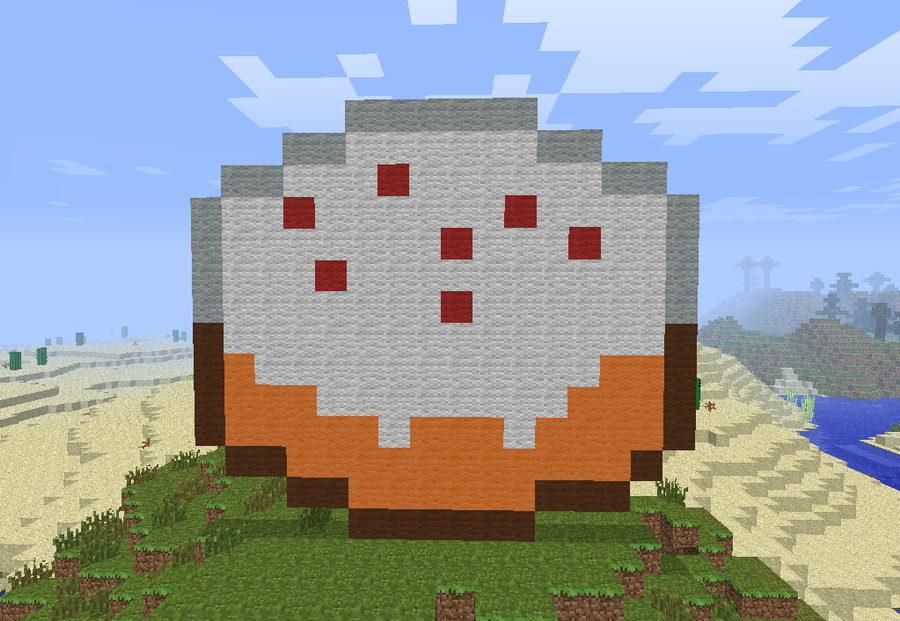Minecraft Pixel Art- Cake by theUNDEADSHARK on DeviantArt