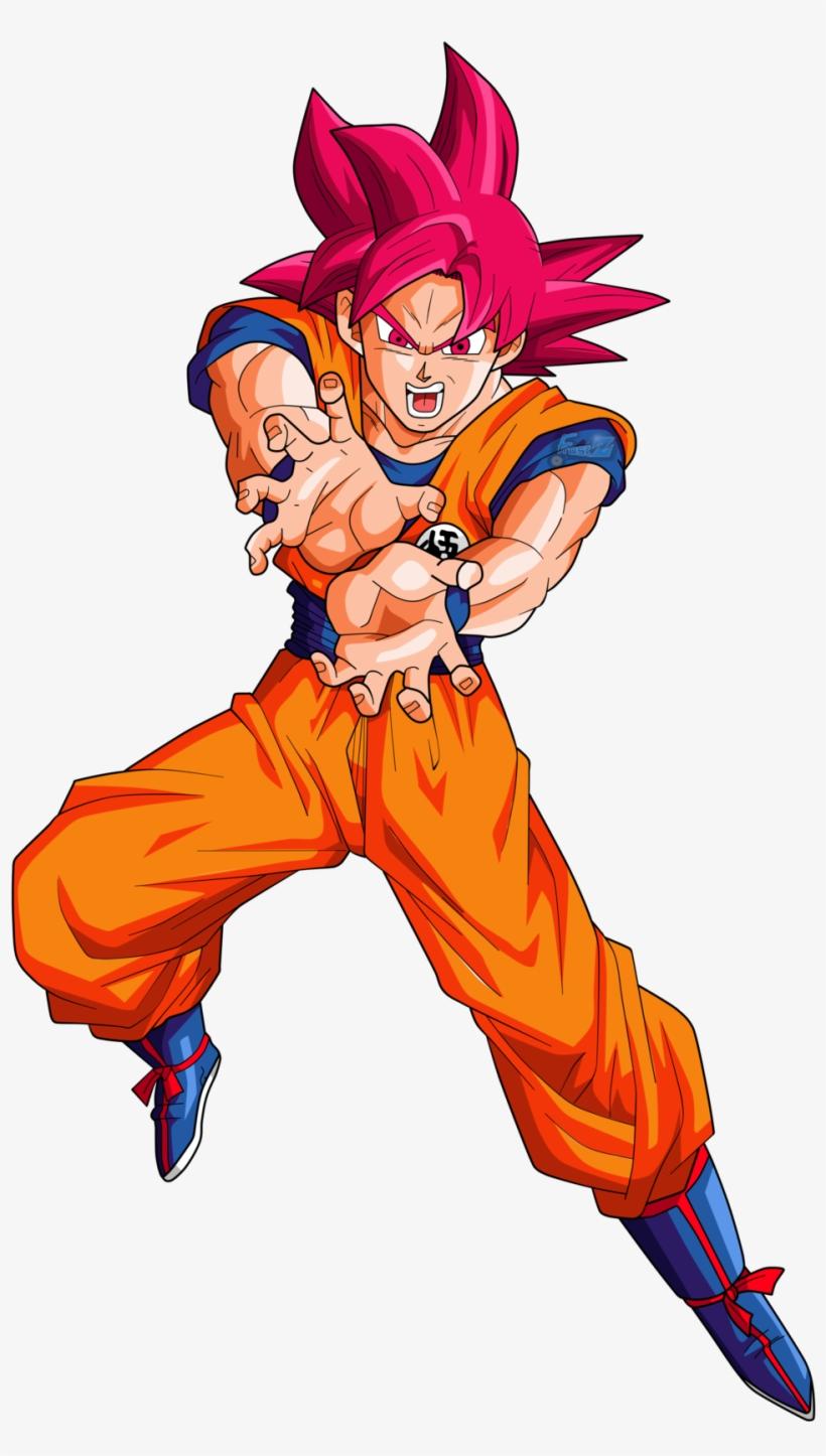 Goku (Super Saiyan God) by L-Dawg211 on DeviantArt