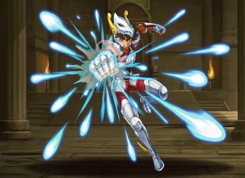 Pegasus Seiya - Pegasus Meteor Punch