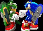 Sonic the Hedgehog vs. Jet the Hawk
