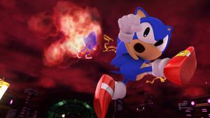 Classic Sonic defeats Classic Metal Sonic