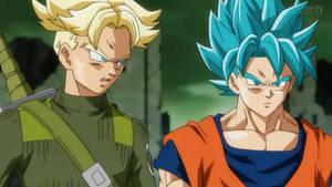 Future Trunks (SSJ2) and Goku (SSGSS)
