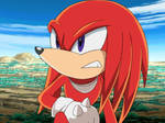 Knuckles being serious
