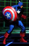Captain America Battle Stance (UMvC3)