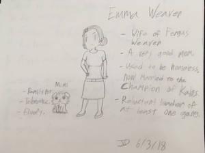 CASN character sheet: Emma Weaver