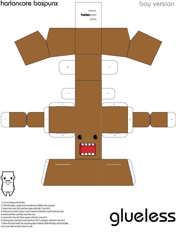 Domo Kun Papercraft by pikmin789