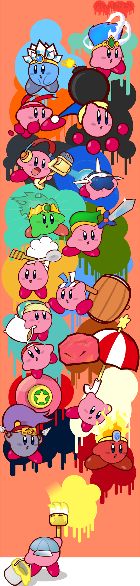 Kirby's Mural by pikmin789