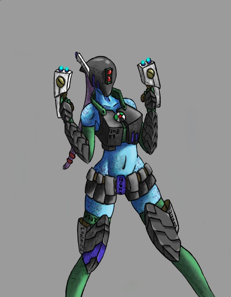 tau girl battlesuit by stevoE26