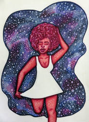 Intergalactic- Sharpie Art by Ultrapiphic