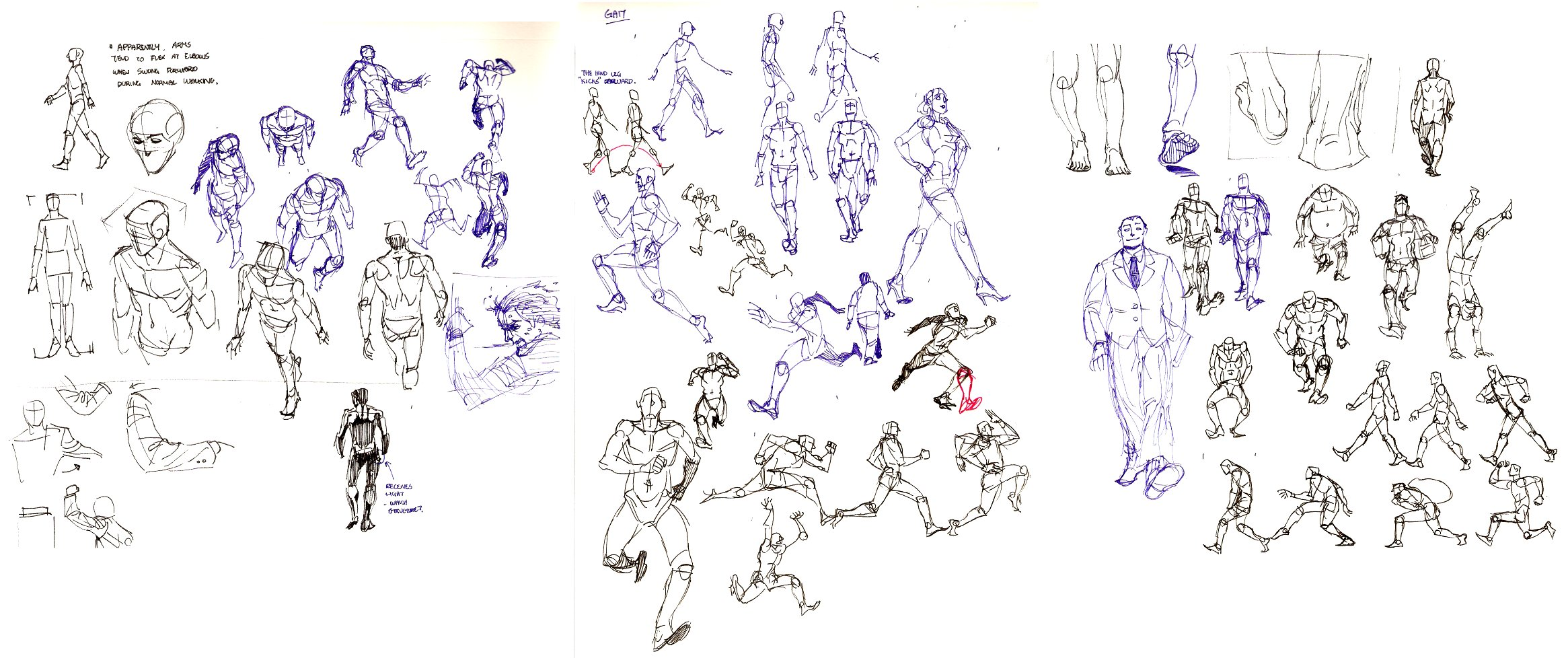 motion study: walking by archvermin
