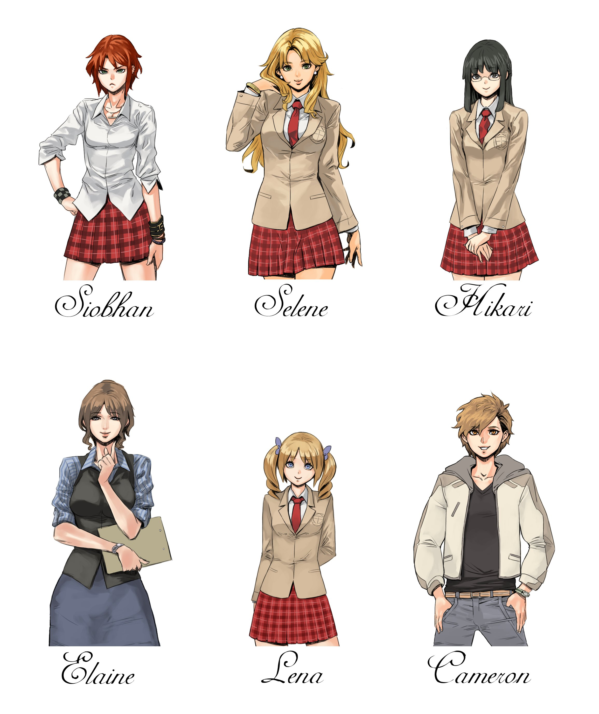 Character Design Visual Novel : Project white visual novel by archvermin on deviantart