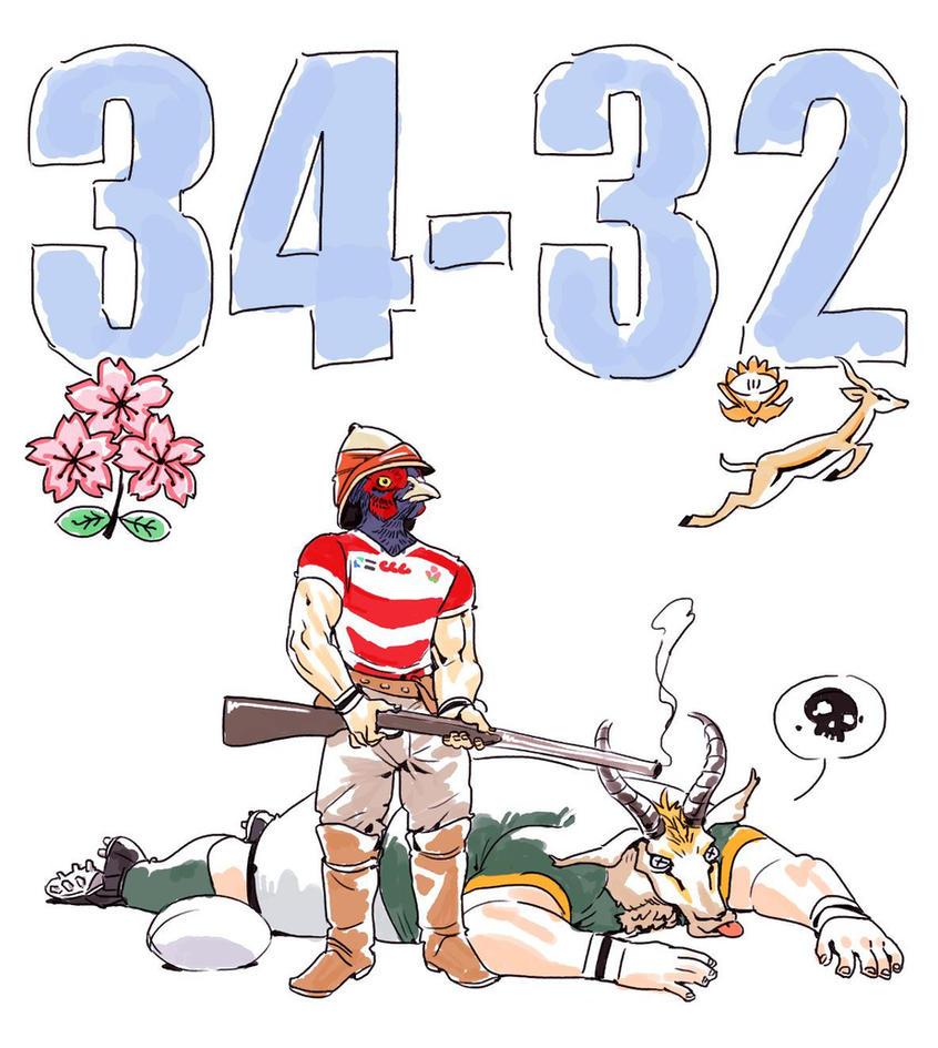 Japan 34-32 Springboks by archvermin