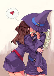 Little Witch Academia: Akko x Diana by archvermin