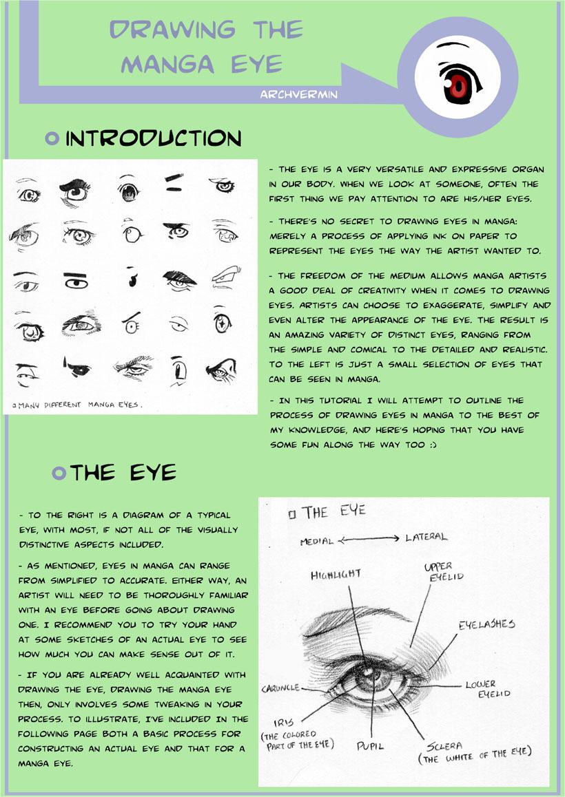 Drawing the Manga Eye-Tutorial