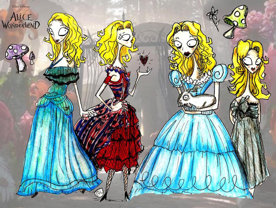 Alice, Tim Burton Style by gureitsu on DeviantArt