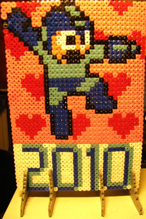 Hama Mega Man Valentine's Day by Sotkettu
