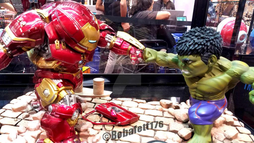 Hulkbuster vs Hulk by Bobafett176