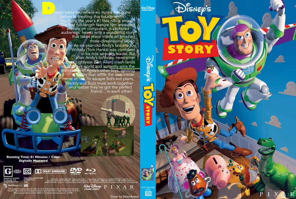 Toy Story Custom Dvd Blu Ray Cover Vhs Style By Edogg8181804 On