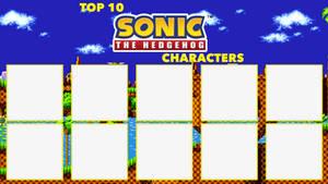 Top 10 Sonic the Hedgehog Characters Meme