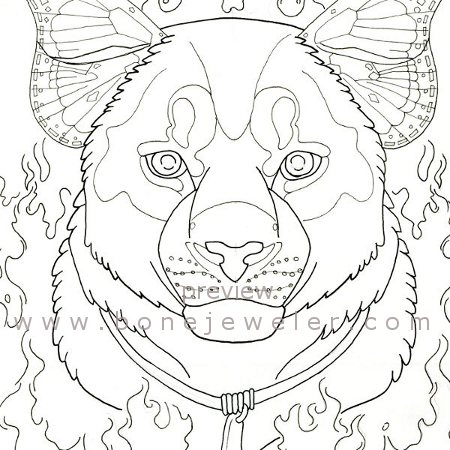 Cougar totem adult coloring page by grygon on deviantart for Cougar coloring pages