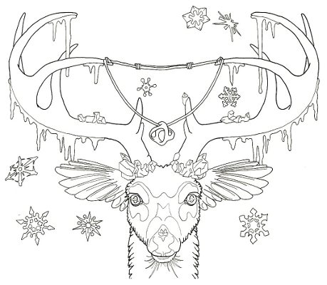 Deer Buck Coloring Page By Grygon On Deviantart