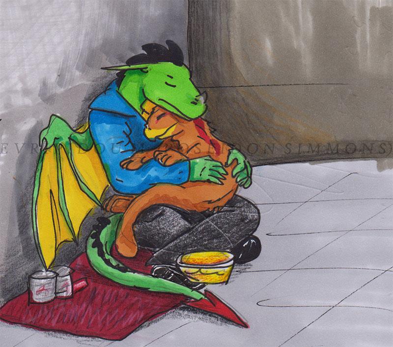 Beggar James with Blaze by poseidonsimons