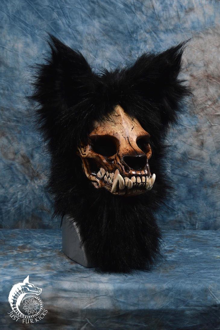 Skull Werewolf Mask (SOLD) by Just-Fur-Kicks