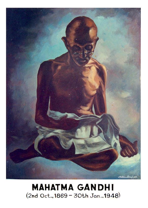 Mahatma Gandhi by Omkar-knack