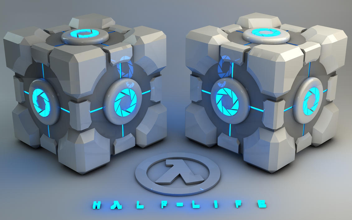 Glowing blue Weighted Storage Cube by Dracu-Teufel666 ... & Glowing blue Weighted Storage Cube by Dracu-Teufel666 on DeviantArt