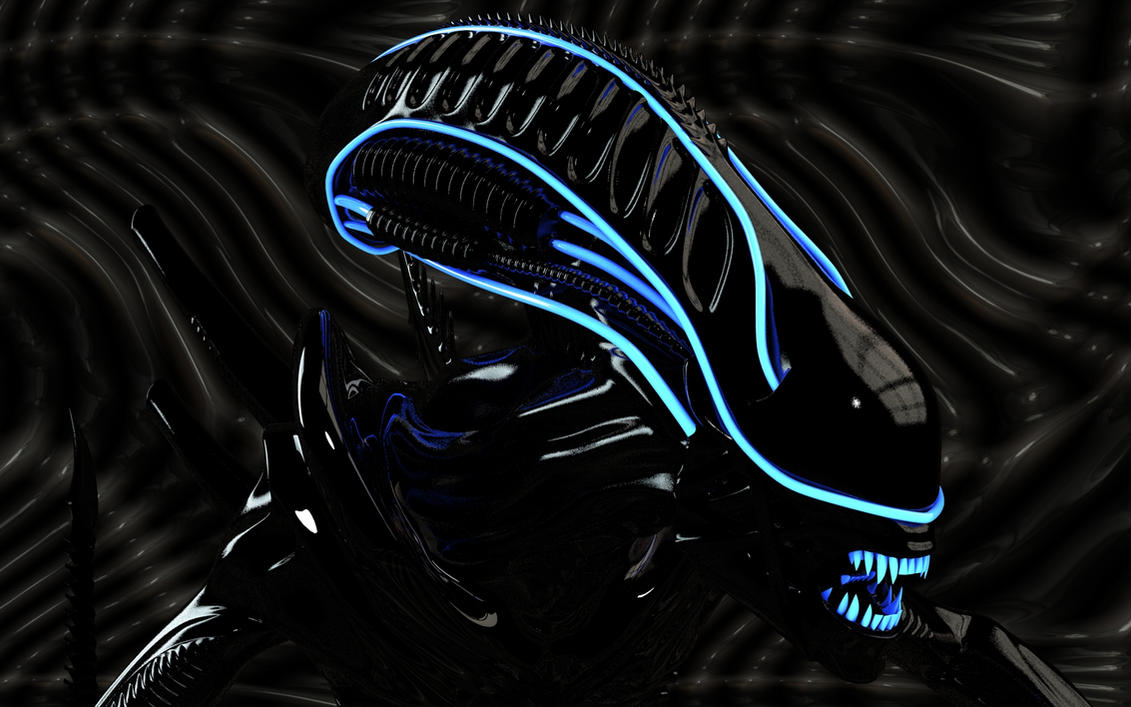 Alien glowing head by Dracu-Teufel666