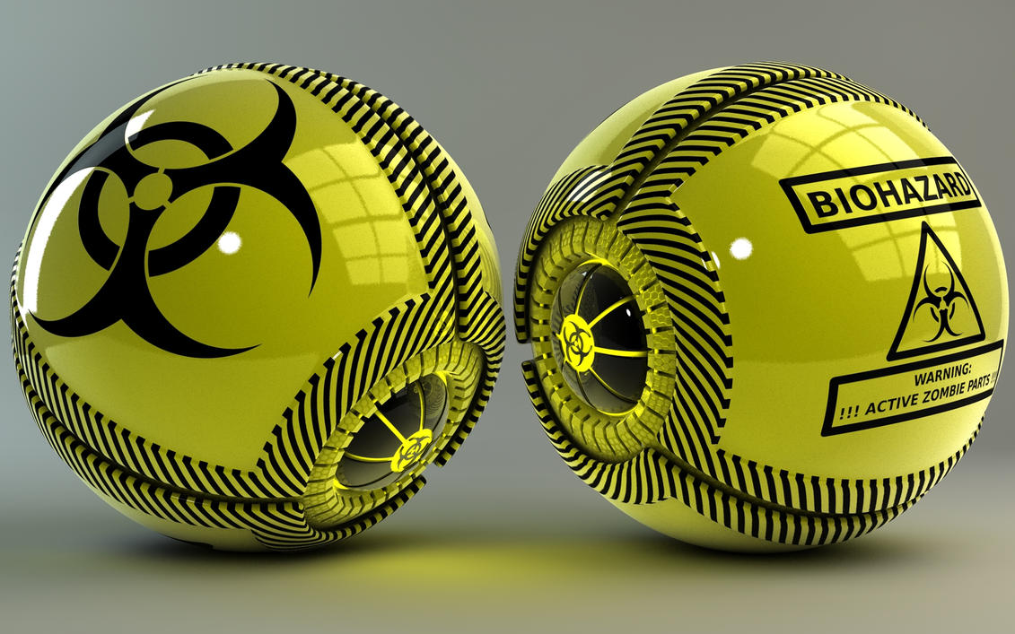 Biohazard glowing Balls by Dracu-Teufel666