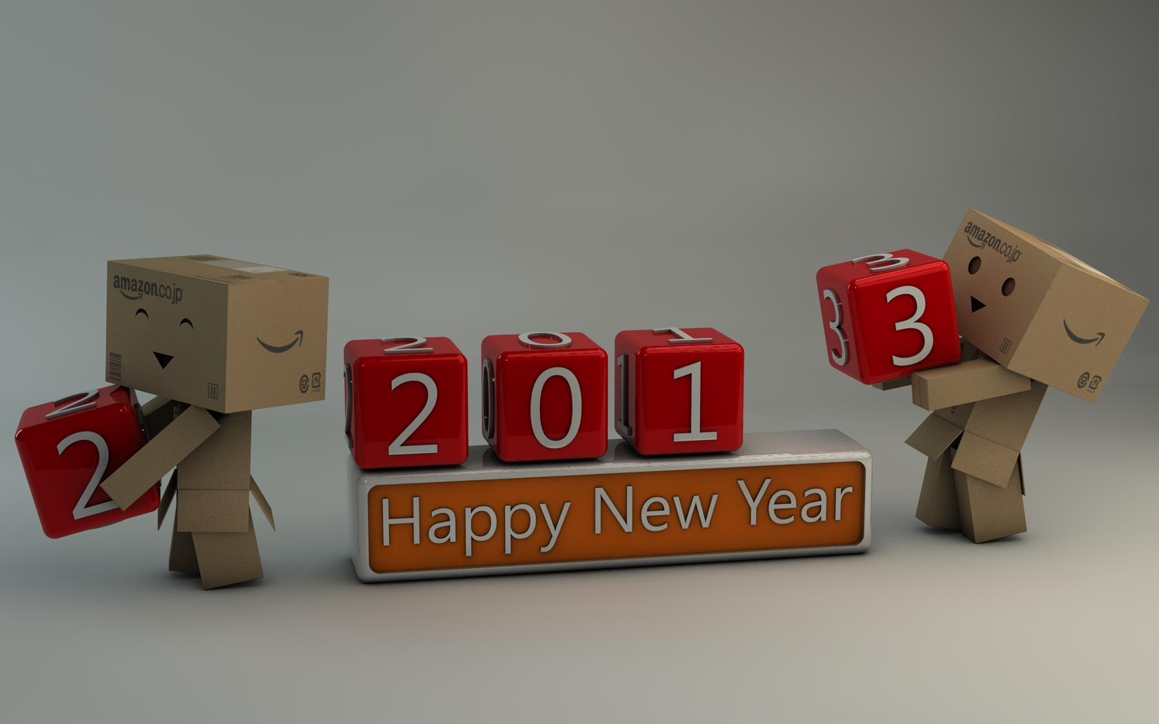 Danbo Happy New Year 2013 by Dracu-Teufel666