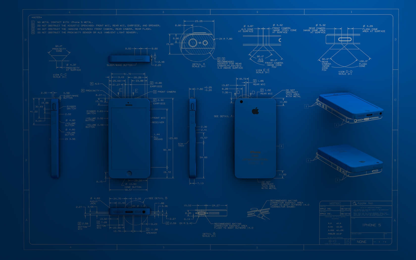 Blueprint 3d Iphone 5 By Dracu Teufel666 On Deviantart