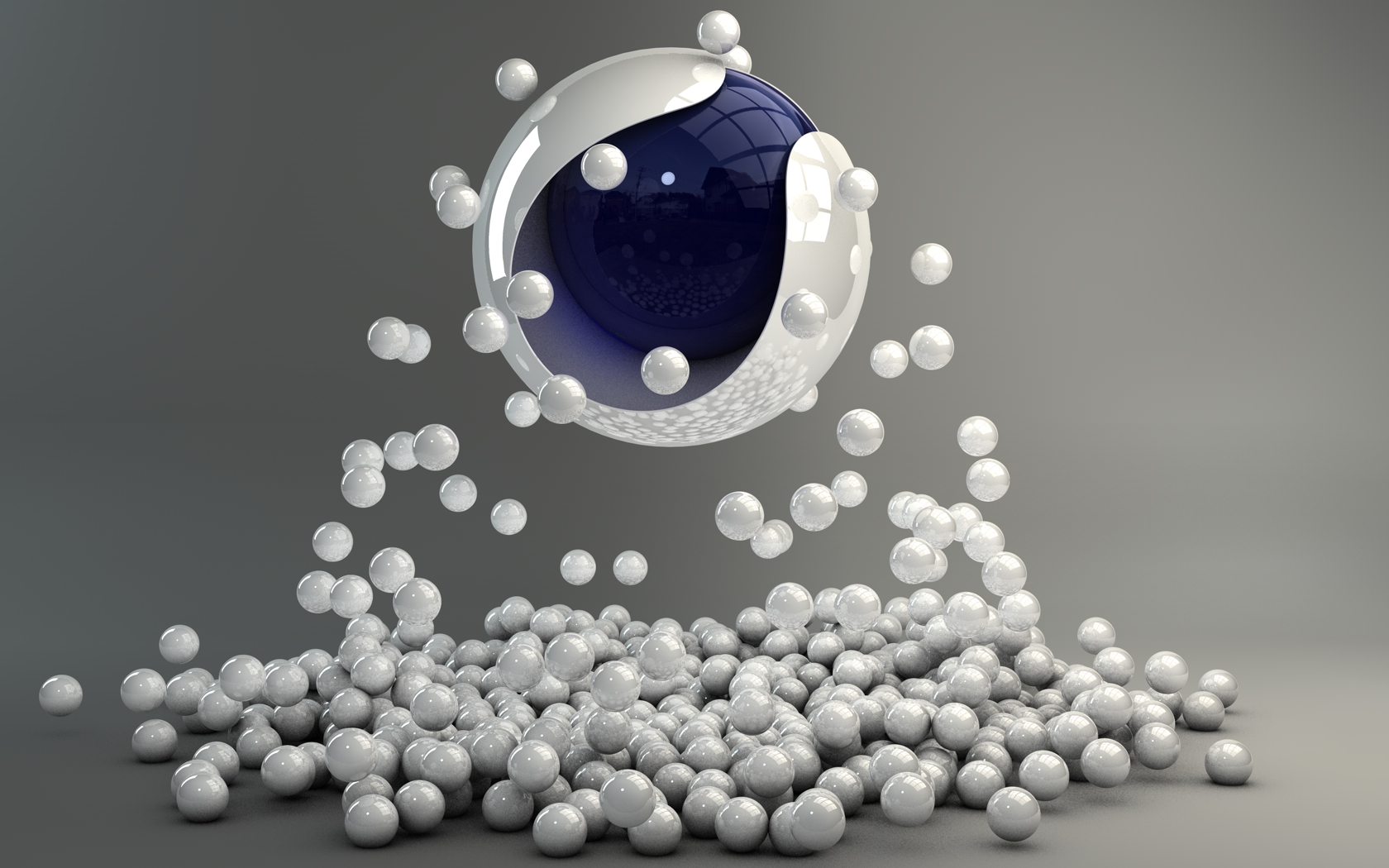 Cinema 4D R13/R14 Logo with balls by Dracu-Teufel666